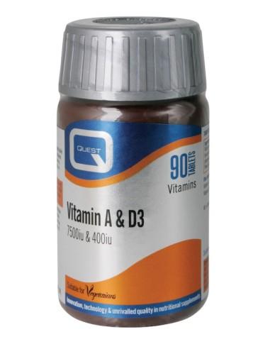 Quest Vitamin A & D3 7500i.u. &...