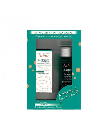 Avene Cleanance Comedomed Concentre Anti-Perfections Συμπυκνωμα Κατά των Ατελειών 30ml & Δώρο Cleanance Gel Nettoyant 100ml - 32