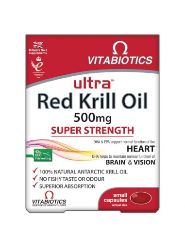 Vitabiotics Ultra Red Krill Oil 30caps