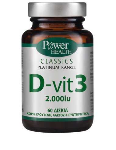 Power Health Classics Platinum D-Vit3 - 2.000Iu 60tabs - 5200321009835