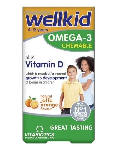 Vitabiotics Wellkid Omega-3 60tabs - 5021265247578