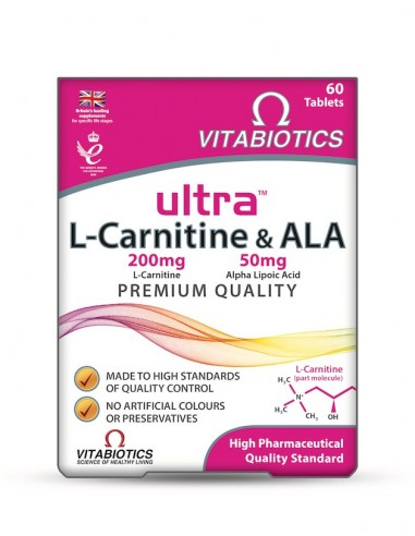 Vitabiotics Ultra L-Carnitine & Ala 60tabs - 5021265244065