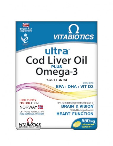 Vitabiotics Ultra 2 in 1 Cod Liver...