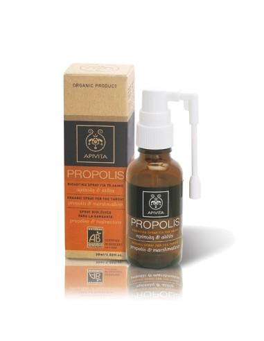 Apivita Βιολογικό Spray Propolis Για Το Λαιμό Με Άλθαια & Πρόπολη 30ml - 5201279027674
