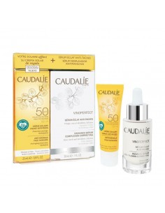 Caudalie Vinoperfect Radiance Serum Complexion Correcting 30ml & Anti-Wrinkle Face Suncare SPF50 25ml - 3522930027331