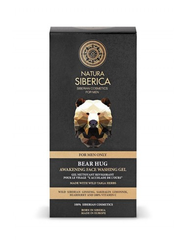 Natura Siberica Men Awakening Face Washing Gel Bear Hug 150ml - 4744183013773