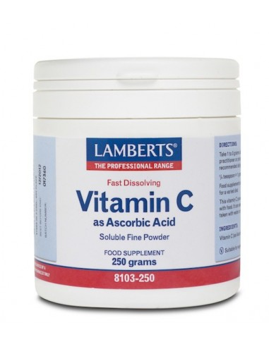 Lamberts Ascorbic Acid 250gr - 5055148400675