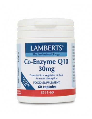 Lamberts Co-Enzyme Q10 30mg 60caps - 505514840012