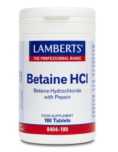 Lamberts Betaine HCI 324mg/Pepsin 5mg...