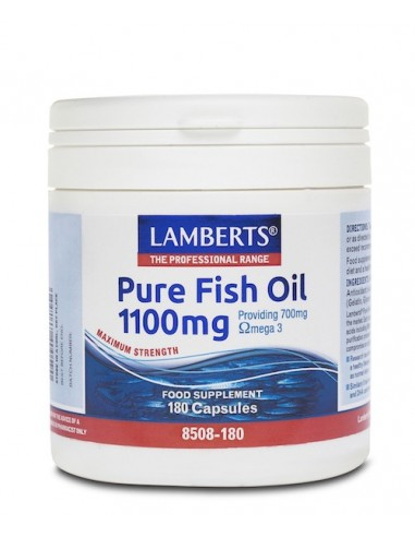 Lamberts Pure Fish Oil 1100mg 180caps - 5055148410568