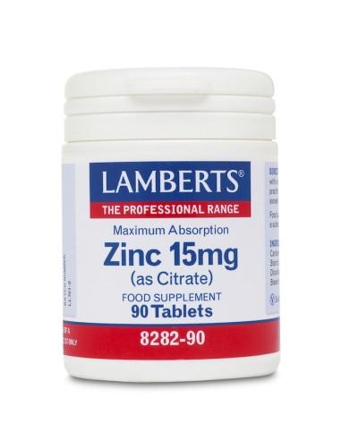 Lamberts Zinc 15mg 90tabs - 5055148400163