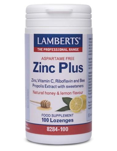 Lamberts Zinc Plus Lozenges 100loz - 5055148403799