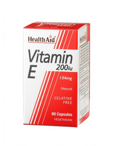 Health Aid Vitamin Ε 200iu 60caps - 5019781012107