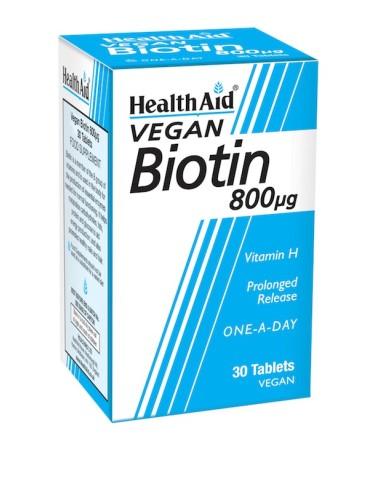 Health Aid Biotin 30tabs - 5019781010707