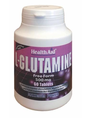 Health Aid L-Glutamine  60tabs - 5019781022526