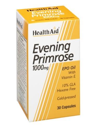 Health Aid Evening Primrose 1000mg 30caps - 5019781013203