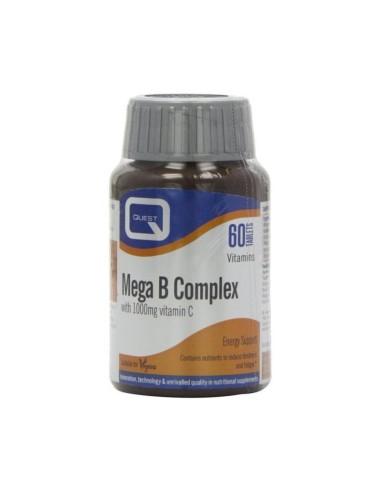 Quest Mega B Complex + C 1000mg 60tabs - 5205965104083