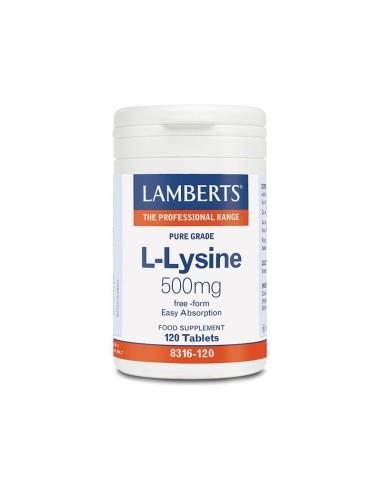 Lamberts L-Lysine 500mg 120tabs - 5055148409746